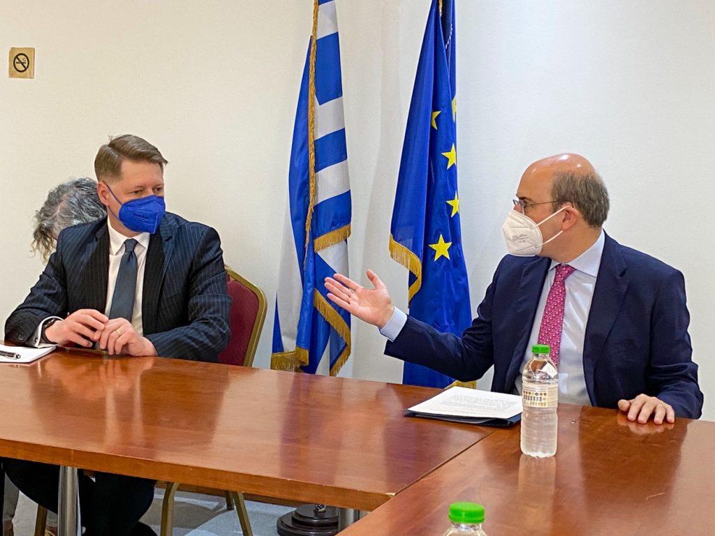 Συνάντηση Κ. Χατζηδάκη με τον Εκτελεστικό Διευθυντή της Ευρωπαϊκής Αρχής Εργασίας, C. Boiangiu