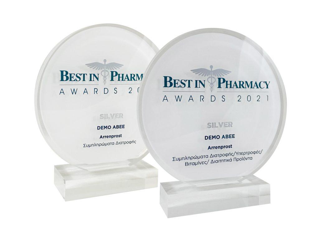 Δύο Βραβεία για τη DEMO ABEE στη διοργάνωση Best in Pharmacy Awards 2021